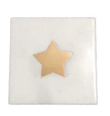 A LA - Marble coaster with bras star