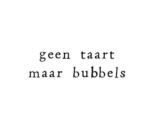 IKPAKJEIN (NL) - Postcard Geen taart maar bubbels