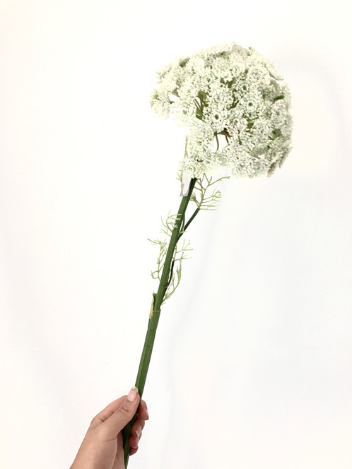 Silk ka flowers queen an lace spray white 78 cm these flowers made of silk are made for life mightylinksfo