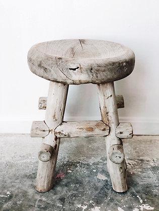 Wooden outdoor stool