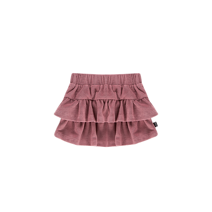HOUSE OF JAMIE - Ruffled skirt orchid