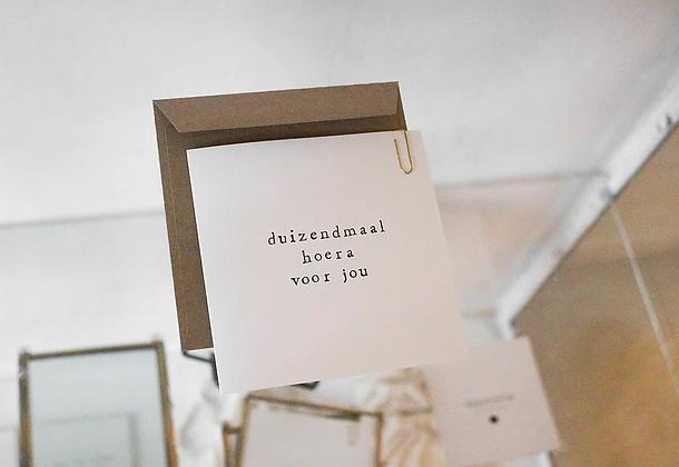 IKPAKJEIN (NL) - Postcard Duizendmaal hoera voor jou