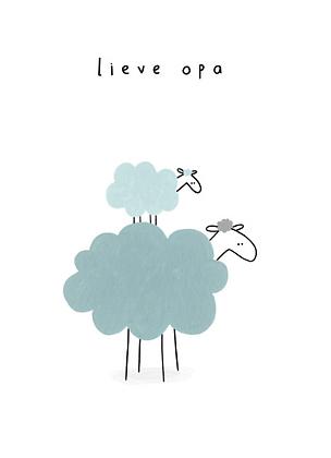KLEIN LIEFS (NL) - Postcard Lieve opa