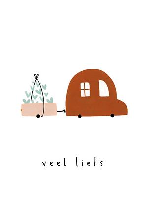 KLEIN LIEFS (NL) - Postcard Veel liefs