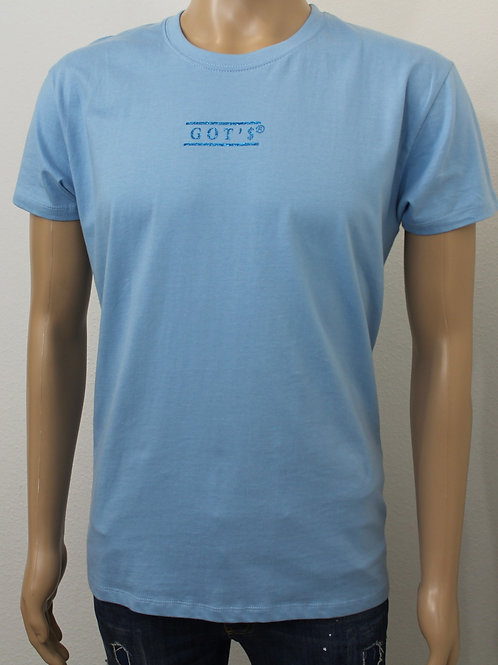 T-shirt Blauw, opdruk blauw