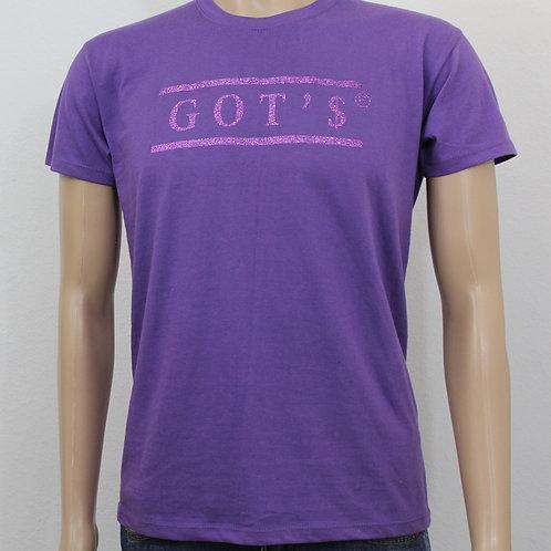 T-shirt paars, opdruk paars
