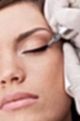 Microliner at microblading brow art