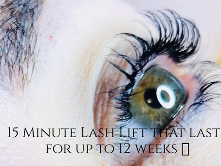 Love your lashes with a lash lift & tint