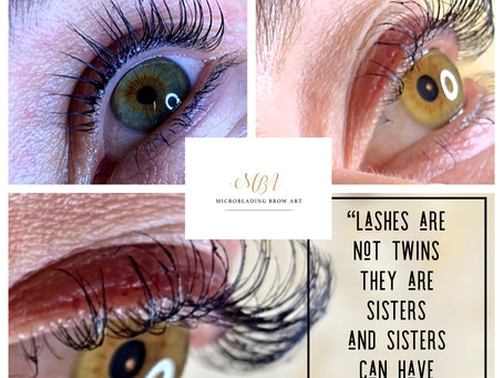 Brows and lashes are sisters not twins, but sisters can have beautiful lashes.