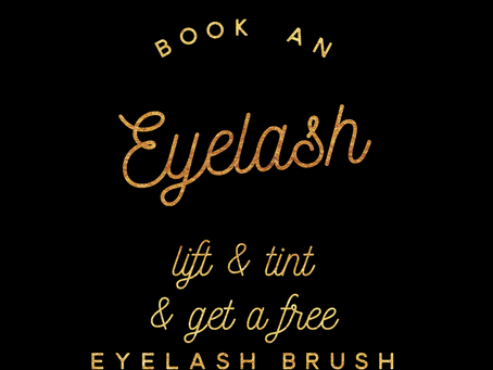 FREE Luxury Eyelash Brush when you book a Lash Lift Treatment 🖤