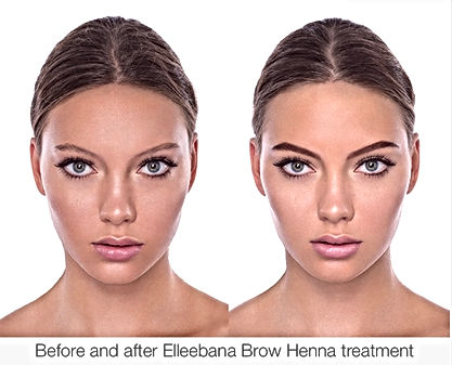 henna brows befor and after by microblading brow art