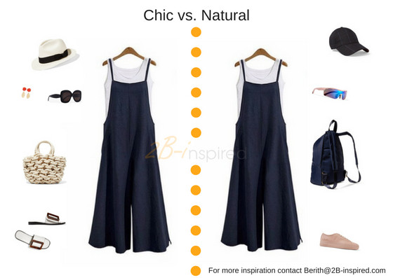 2B-inspired, Chic vs. Natural style personality