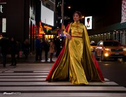 Liz Cho wearing Samuel Wong