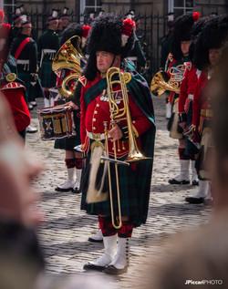 Parade in Parliament Sq, Edinburgh