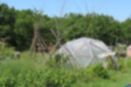 Dôme géodésique du jardin d'émerveille