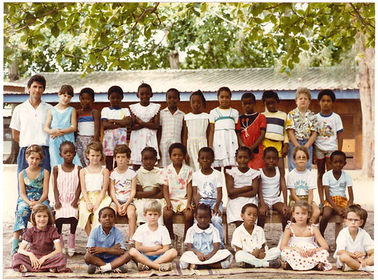 photo de classe au Gabon