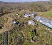 Vue aérienne du jardin