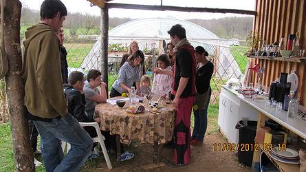 Un des premiers groupes d'enfants au jardin