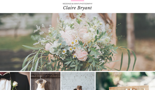 Events & Portraits website templates – Events Photographer Portfolio