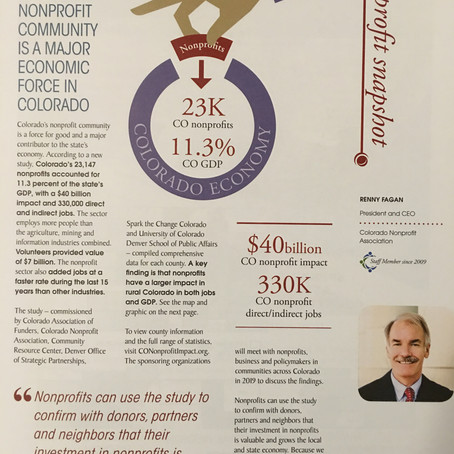 """Nonprofit Communities are a major economic force in Colorado""  Colorado Nonprofit Association"