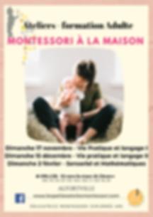 Ateliers - formation Montessori à la maison - pour Adultes - Alfortville