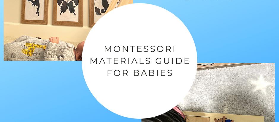 Montessori Materials Guide - From Birth To One