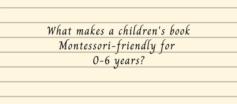 What makes a children's book Montessori-aligned?