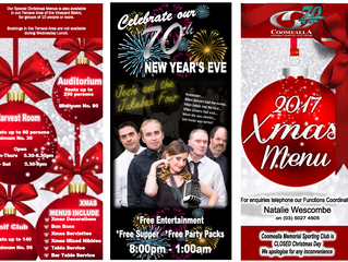 Christmas Functions at the Coomealla Club