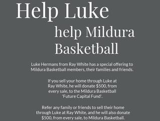 Help Luke Help Mildura Basketball