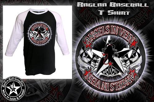 Angels In Vein Baseball Raglan T Shirt Unisex