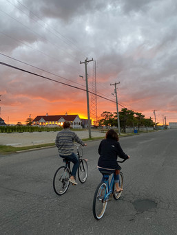 bike riding and epic sunsets