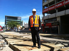 Jonathan Dutton touring the RED zone in Christchurch after the main earthquakes