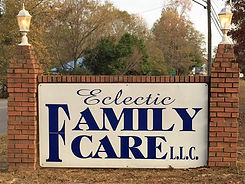 eclectic family care sign