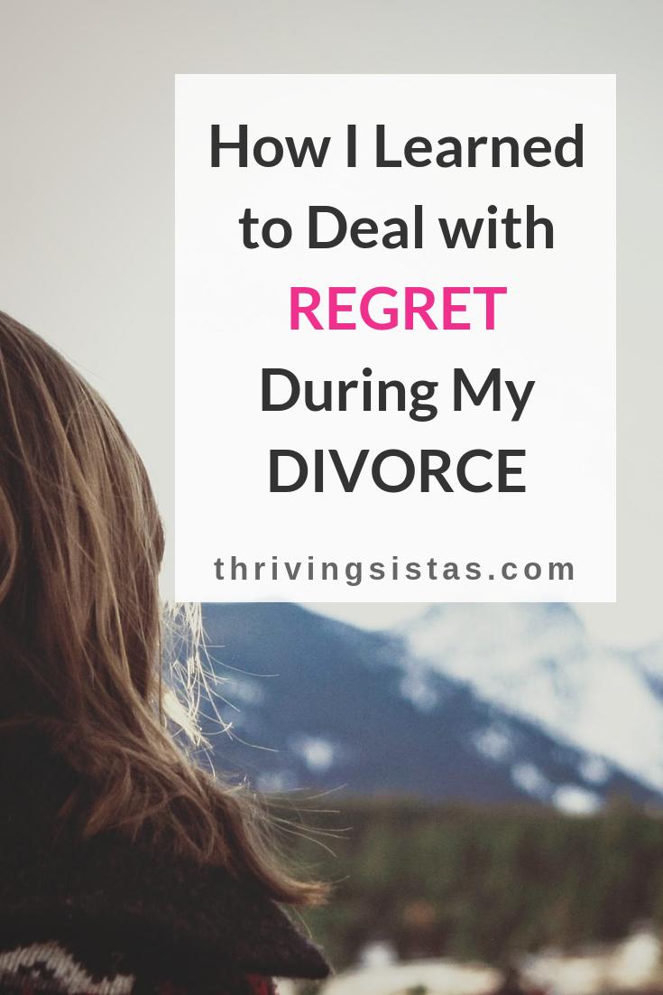 deal with regret during divorce