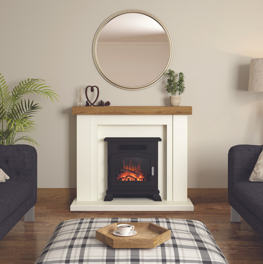 The Bracken electric suite shown in Soft White