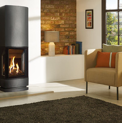 The Loft Gas Stove with Steel Plinth Top Section
