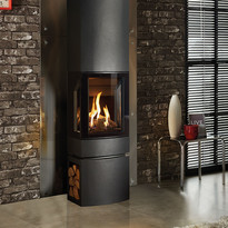 The Loft Gas Stove with steel log