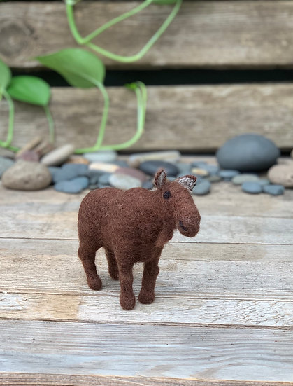 Needle felted moose - her name is Molly