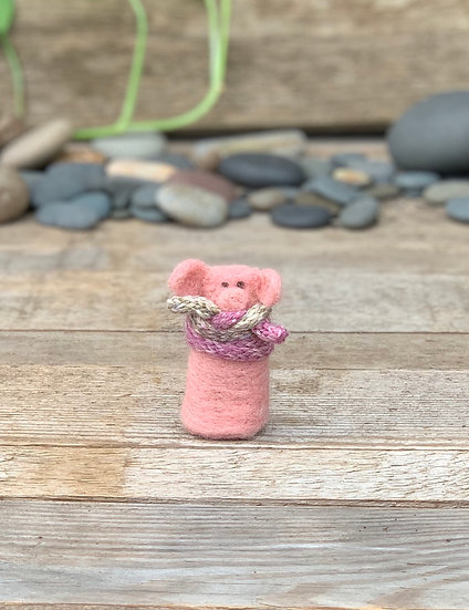 Needle Felted Somebuddy - Piggy