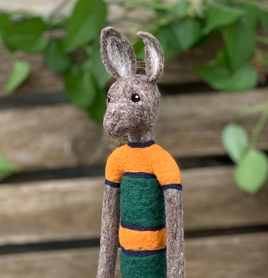 Needle Felted Lanky Baby Rabbit - Jackie