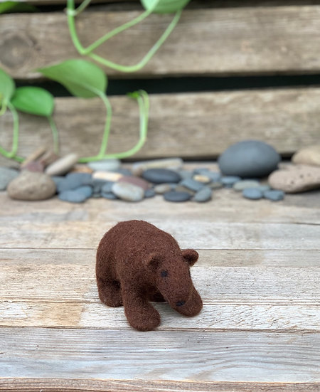 Needle felted brown bear - her name is Sophie