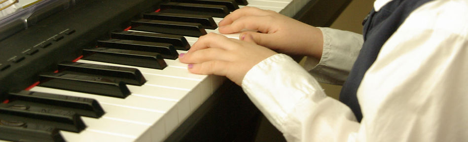 Musical Student playing piano