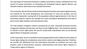 IPG Releases Statement on Turkish Withdrawal from the Istanbul Convention