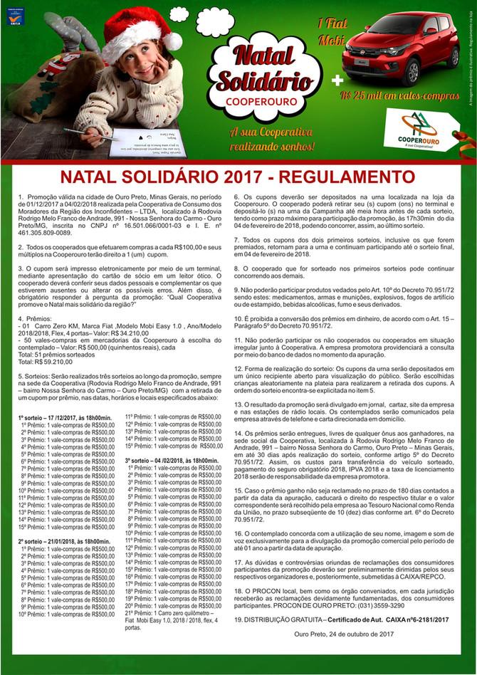 Natal Solidário Cooperouro: Regulamento da Promoção