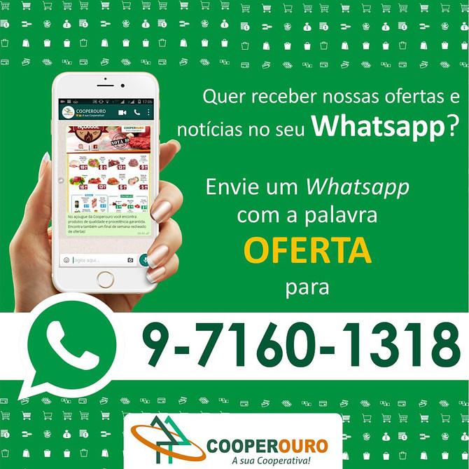 Receba as ofertas da Cooperouro em seu Whatsapp
