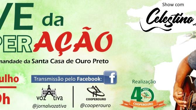 Cooperouro realiza Live beneficente em prol da Santa Casa de Ouro Preto
