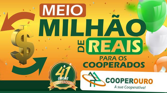 Cooperouro comemora 41 anos, distribuindo meio milhão de reais para os Cooperados