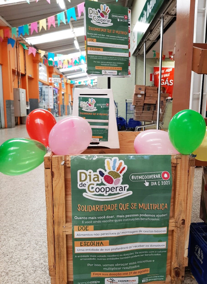 Cooperouro realiza campanha de arrecadação para entidade que será escolhida pela comunidade