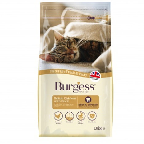 Burgess chicken and duck adult cat