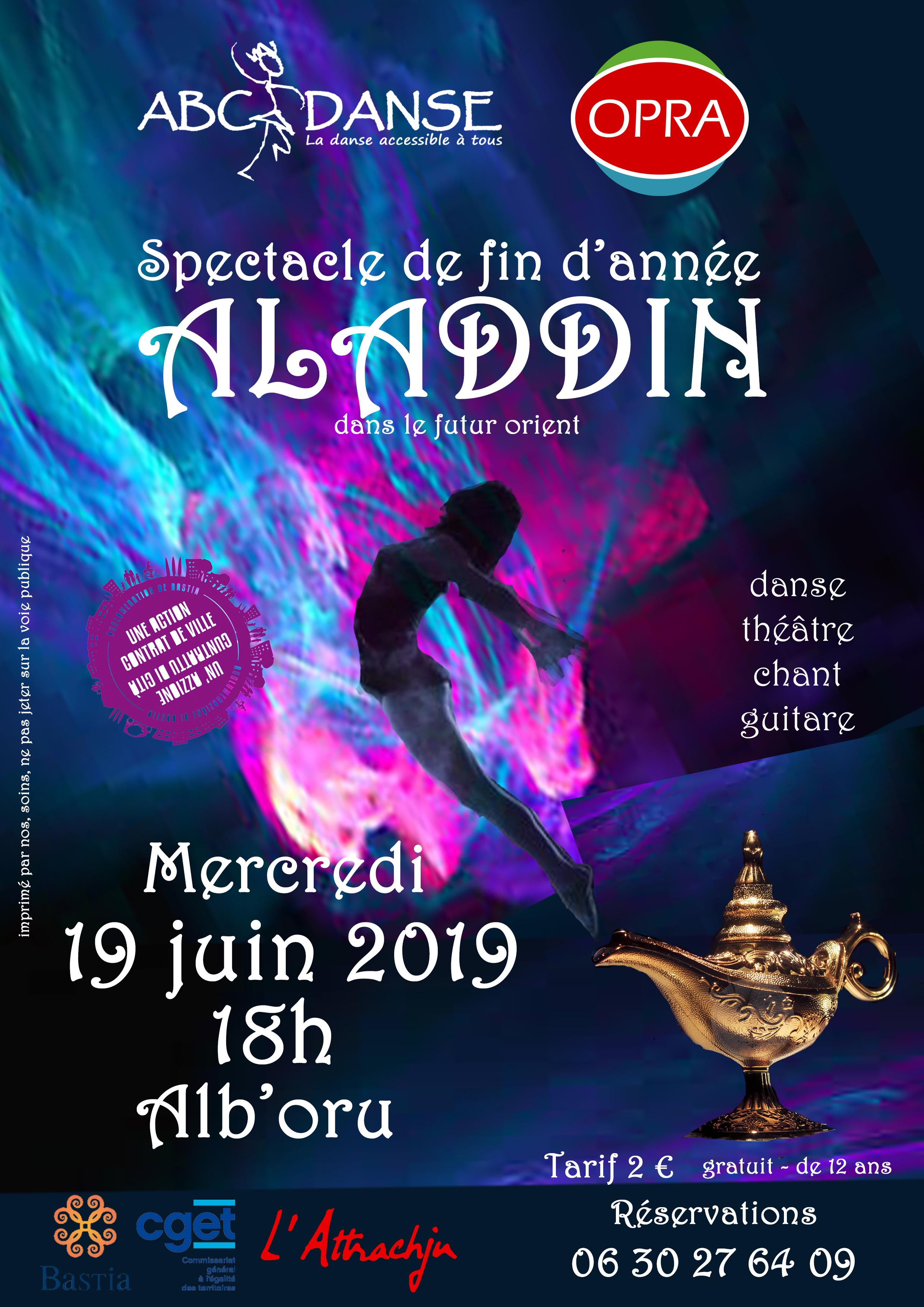 """Spectacle """"Aladdin dans le futur orient"""" 2019"""